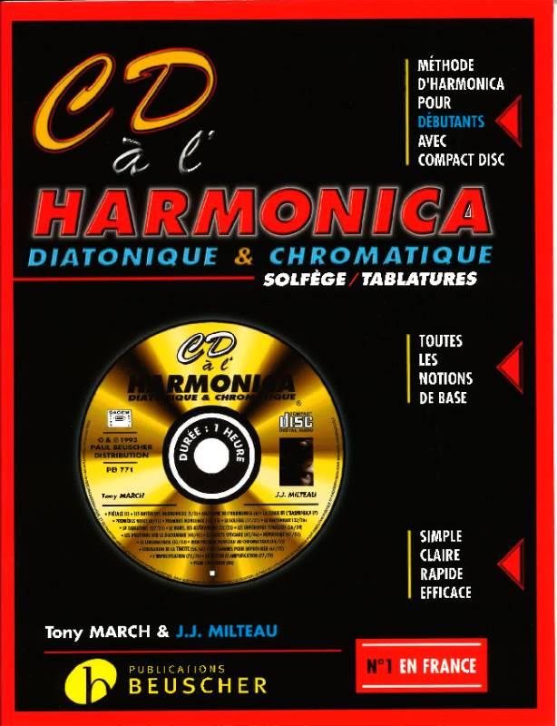 Milteau Beuscher CD M/éthode compl/ète dharmonica diatonique /& chromatique J.J